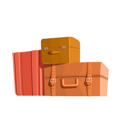 travel bags and luggage color heap of vector image