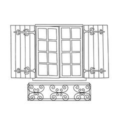 Vintage window vector image