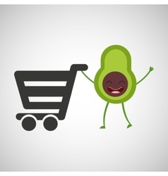 Concept market buy avocado vector