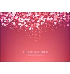 Heart background design i vector