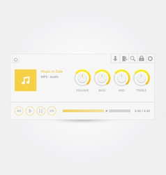 Music player 6 vector