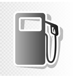 gas pump sign  new year blackish icon on vector image