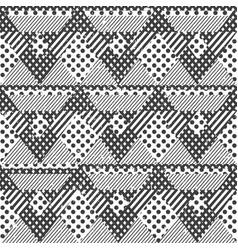 monochrome fabric seamless pattern vector image