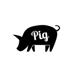 Graphical pig hand drawing vector
