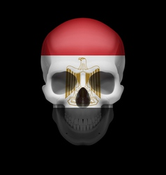 Egyptian flag skull vector
