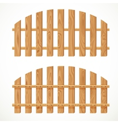 Wooden semicircular fence vector image