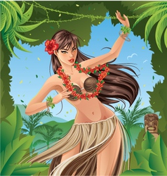 Hula dancer vector