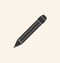Icon of pencil vector