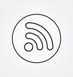 Wifi outline symbol dark on white background logo vector
