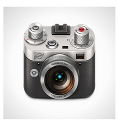 retro camera xxl icon vector