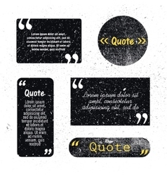 Set of grunge textured quote bubbles space vector