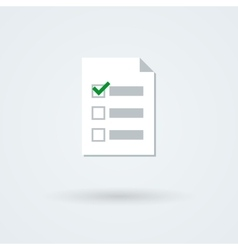 Text and checklist icon vector