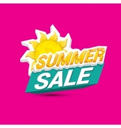 hot summer sale sticker vector image