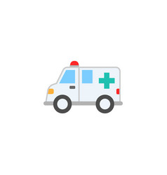 ambulance car solid icon healtcare sign vector image vector image