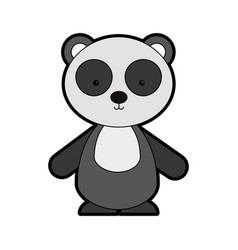 animal panda cartoon vector image