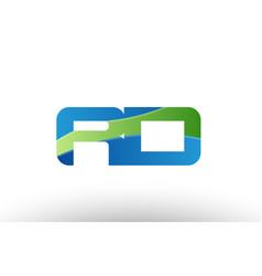 Blue green rd r d alphabet letter logo vector