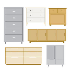 cabinet wood furniture isolated object vector image
