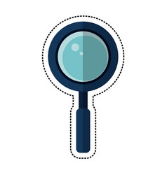 Cartoon search loupe school vector