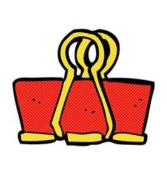 Comic cartoon brass clip vector