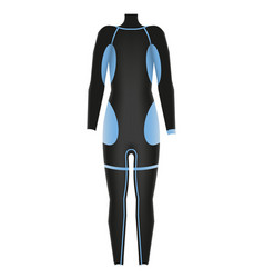 Diving suit scuba suit underwater equipment vector