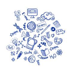 education doodles vector image