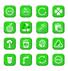 Environmental icon set vector