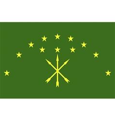 Flag of adygea vector image