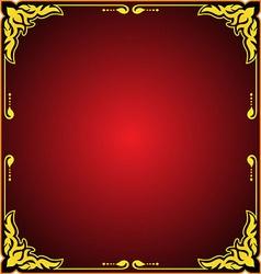 fram floral gold vector image vector image