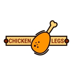 Fried chicken fast food restaurant thin line icon vector