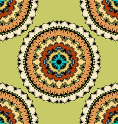 Green mandala patterned background vector