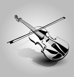 Hand sketch violin vector image