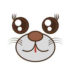 Kawaii bear cute face animal vector