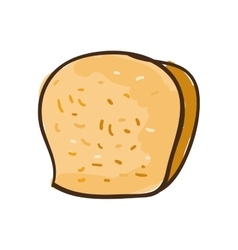 Loaf bakery product vector
