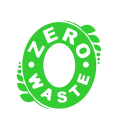 Logo or badge of zero waste garbage processing vector