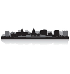 Madison usa city skyline silhouette vector