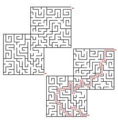 Maze conundrum geometric labyrinth maze vector