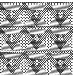 Monochrome fabric seamless pattern vector