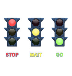 Multi-colored signal traffic light vector