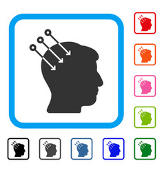 Neural interface connectors framed icon vector