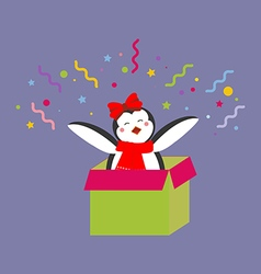 Penguin in a present vector