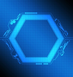 polygon frame modern design vector image vector image
