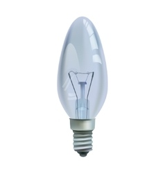 Realistic bulb isolated on white background vector image