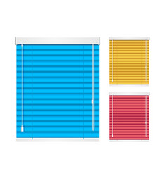 realistic color window jalousie roller shutters vector image