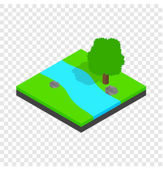 river landscape isometric icon vector image vector image
