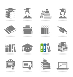 School an icon vector image vector image
