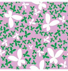 Seamless pattern with butterfly vector image
