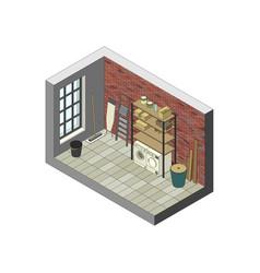 storeroom in isometric view vector image vector image