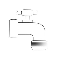 tap water symbol vector image vector image