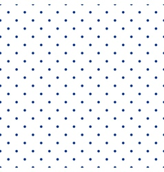 Tile pattern blue polka dots on white background vector image