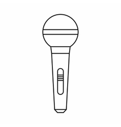 Wireless microphone icon outline style vector image